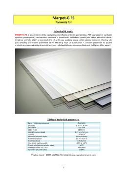 Technické pokyny pro desky MARPET