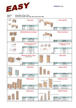 Zde si můžete stáhhnou technický rozkres nábytku EASY ve formátu