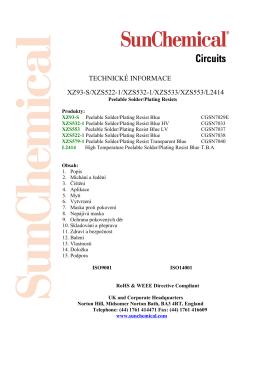 TECHNICKÉ INFORMACE XZ93-S/XZS522-1/XZS532