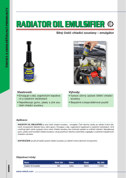 RADIATOR OIL EMULSIFIER