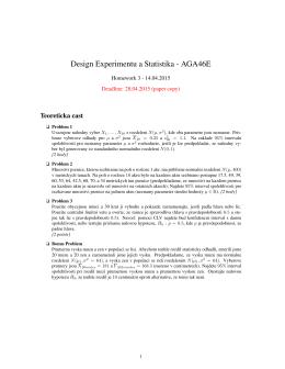 Design Experimentu a Statistika - AGA46E