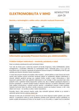Zpravodaj pracovní skupiny pro elektromobilitu červenec 2015