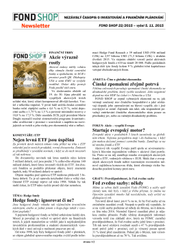 Newsletter FOND SHOP 22-2015