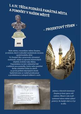 I. a IV. třída poznává památná místa a pomníky v našem městě