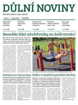 Důlní noviny ročník XVIII číslo 8