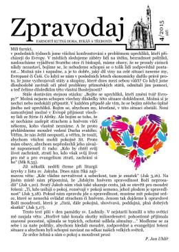 Září 2015 - Římskokatolická farnost – arciděkanství Kutná Hora