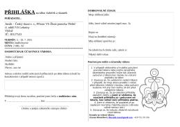 Přihláška2015 - 4.oddíl vodních skautek Lekníny Třebíč