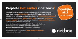 Přejděte bez sankcí k netboxu!