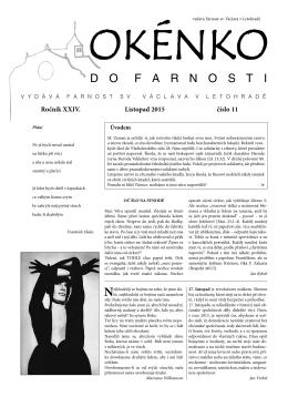 Okénko do farnosti 11/2015 (formát pdf)