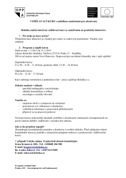 Vzdělávací kurz s nabídkou zaměstnání pro absolventy