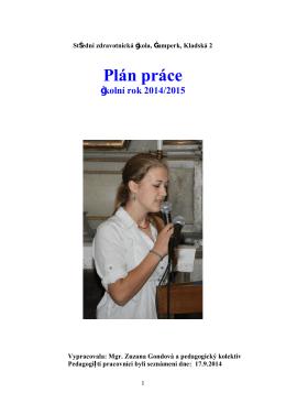 Plán práce - Střední zdravotnická škola Šumperk, Kladská 2