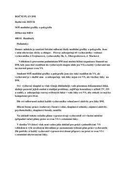 Roční plán DM - Střední odborná škola mediální grafiky a polygrafie