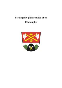 Strategický plán rozvoje obce Chaloupky _úprava