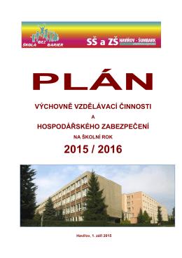 Plán práce 2015/2016