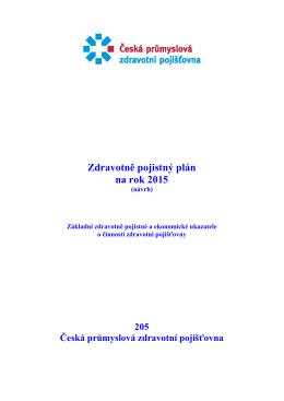 Zdravotně pojistný plán na rok 2015