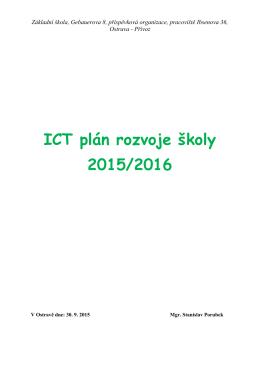 ICT plán rozvoje školy 2015/2016 - zs