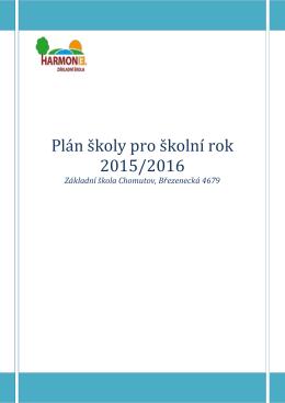 Plán školy pro školní rok 2015/2016