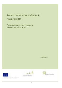 strategický realizační plán pro rok 2015