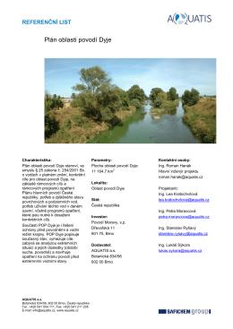 Plán oblasti povodí Dyje