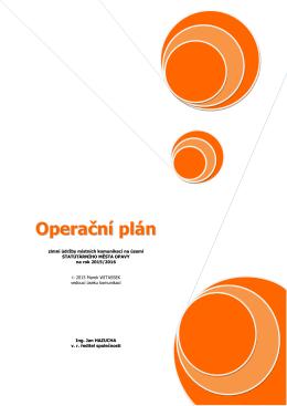 Operační plán zimní údržby - Technické služby Opava sro
