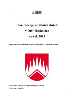 Plán rozvoje sociálních služeb v ORP Boskovice na rok 2015