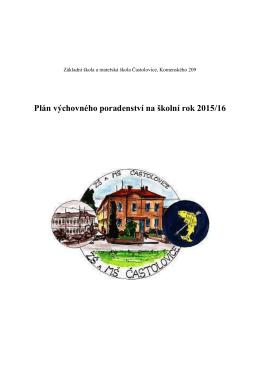 Plán výchovného poradenství na školní rok 2015/16