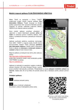 Mobilní mapová aplikace Plán židovského hřbitova