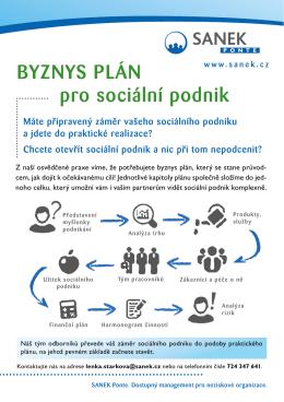 BYZNYS PLÁN pro sociální podnik