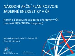 národní akční plán rozvoje jaderné energetiky v čr