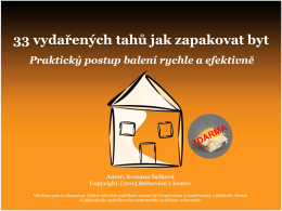 33 vydařených tahů jak zapakovat byt