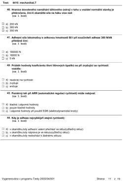 Test: 4410. mechanikaLT Hranice dovoleného namáhání táhlového