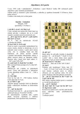Aljechinovy dvě partie