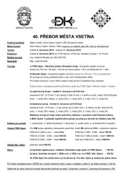 40. přebor města vsetína
