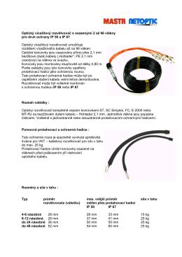 Optický vícežilový rozvětvovač s osazenými 2 až 96 vlákny pro druh