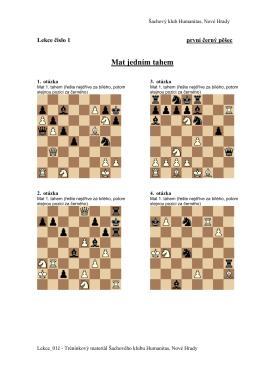 Mat jedním tahem - Šachový klub Humanitas Nové Hrady