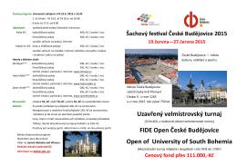 Šachový festival České Budějovice 2015