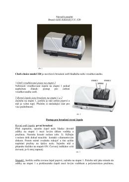 Návod brusič CC-320