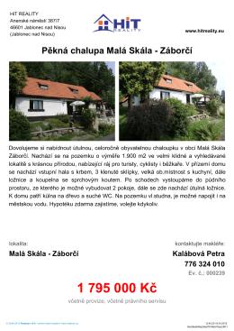 PDF Pěkná chalupa Malá Skála - Záborčí