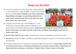 Školní rok 2014/2015 - ZŠ TG Masaryka a MŠ Písek