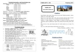 Pravidelné aktivity FARNÍ LISTY č. 150 Prázdniny 2015 Prázdniny