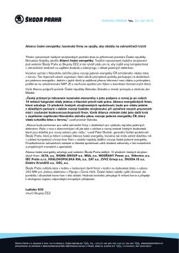Aliance české energetiky: tuzemské firmy se spojily, aby obstály na