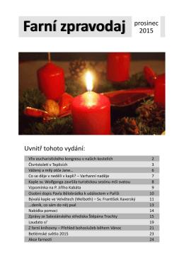 Farní zpravodaj prosinec - Salesiánské středisko Štěpána Trochty