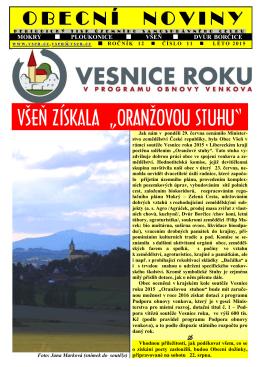 Obecní noviny č. 11/2015