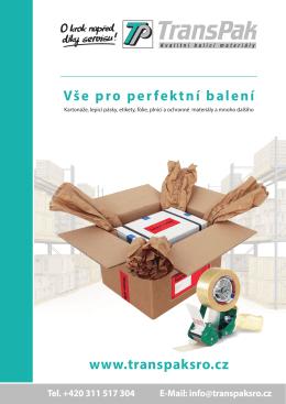 Vše pro perfektní balení www.transpaksro.cz