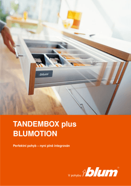 TANDEMBOX plus BLUMOTION