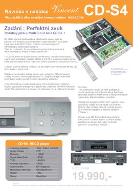 VINCENT CD S4 - Produktový leták