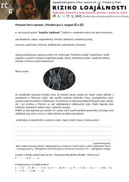 Pracovní list k výstavě. /Vhodné pro 2. stupeň ZŠ a SŠ/