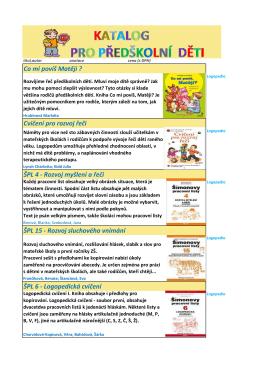 Katalog pro předškolní děti