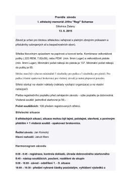 """Pravidla závodu I. střelecký memoriál Jiřího """"Regi"""" Schamse"""