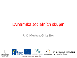 Sociální skupiny a útvary